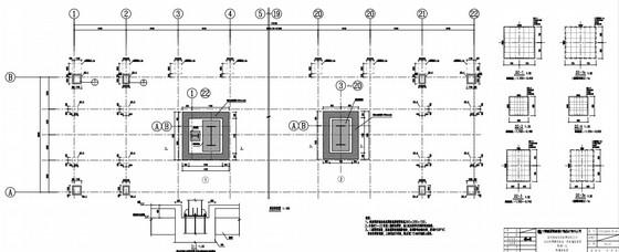 18米单跨门式刚架结构车辆维修基地静调厂房结构施工图