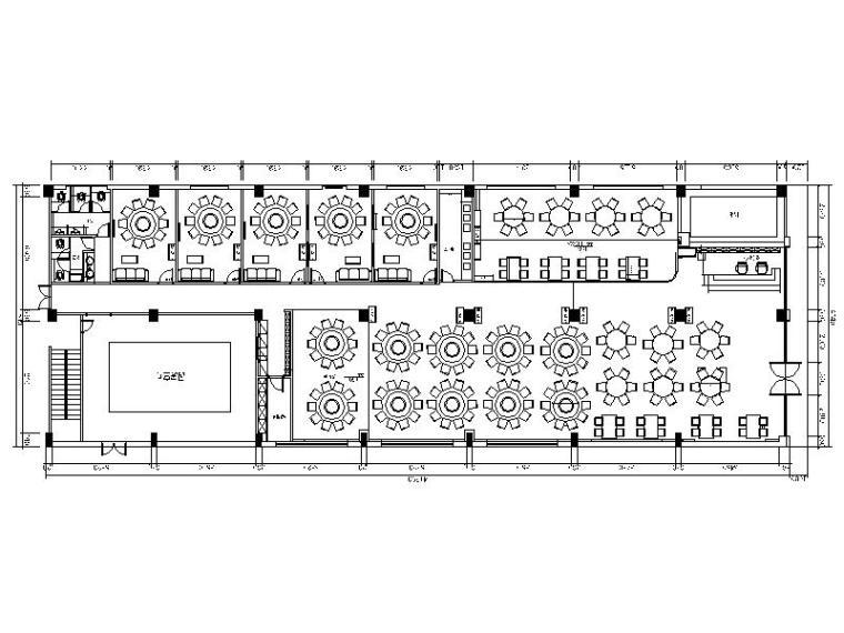 [湖南]复古地方特色湘菜馆室内设计施工图(含效果图)