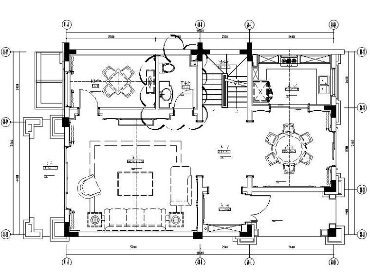 [成都]精品3层别墅样板间室内设计施工图(含效果图、材料表)