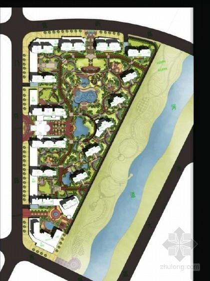 [温州]县城法式风格高档居住区景观设计概念性方案