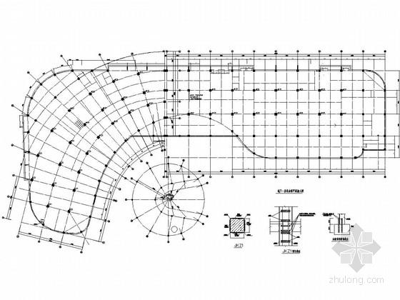 [内蒙古]原五层框架结构办公楼改为医院改造加固结构图
