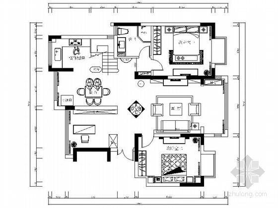 [南通]古典欧式风格复式室内装修图(含效果)