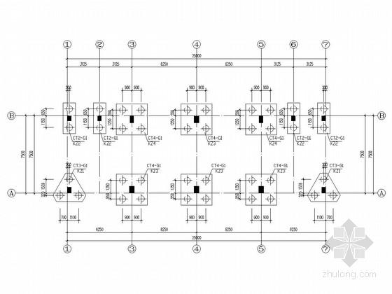 五层框架结构宿舍楼结构施工图(钻孔灌注桩)