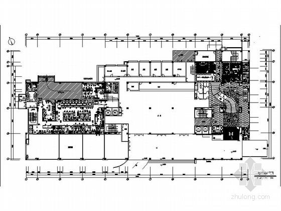 [陕西]五星级时尚品牌鲍鱼餐厅室内装修施工图(含效果)