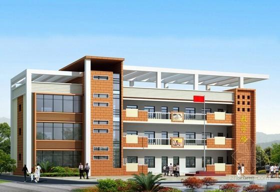 3层框架结构教学楼建筑工程量计算实例(含套价 图纸)