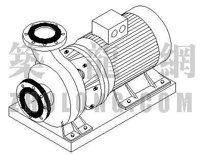 水泵轴侧标准大样图