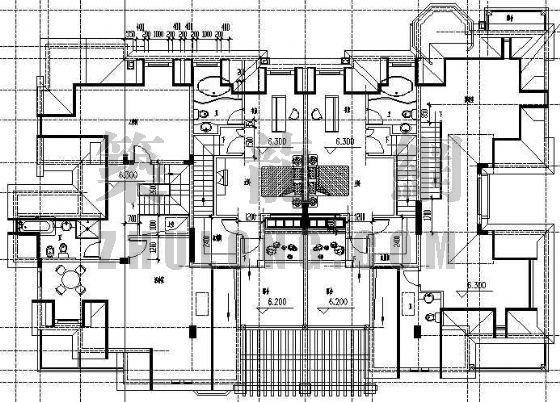 某德式多坡四联排别墅建筑设计方案-4