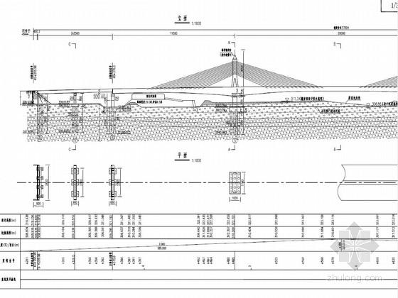 115+200+115m双塔单索面预应力矮塔斜拉桥施工图316张(悬臂变截面 三向预应力)
