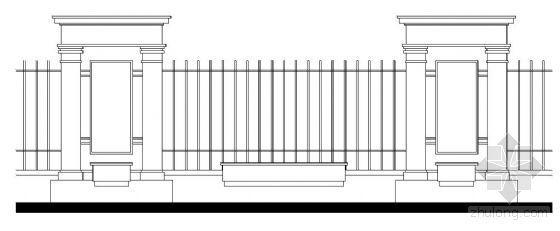 某公园大门和围墙详细施工图