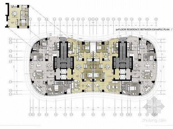[成都]高端现代城市综合体中心设计方案图