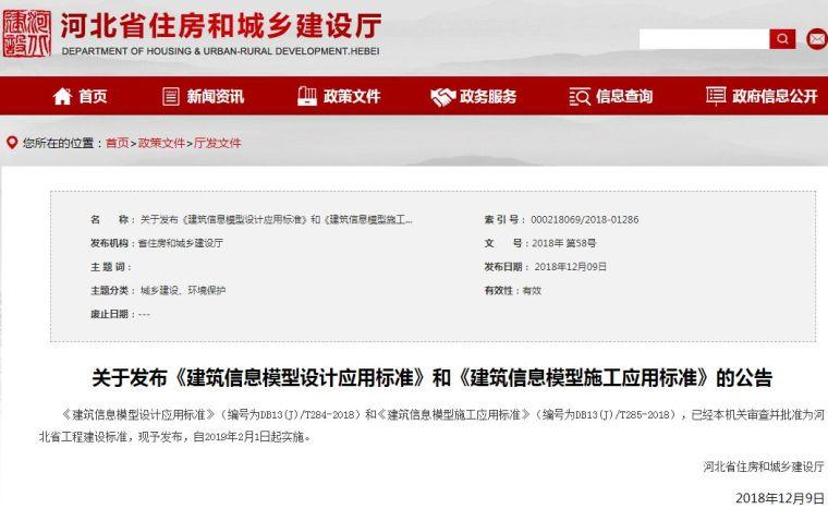 《河北省建筑信息模型施工应用标准》正式出版发行