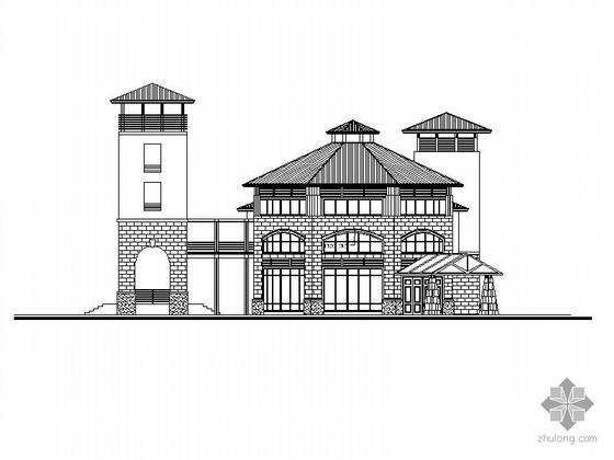 某歐式二層會所建筑設計方案