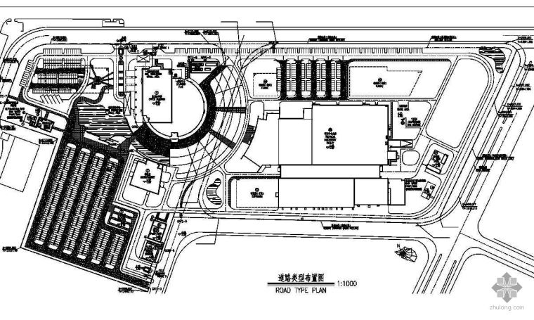 某厂房道路平面图