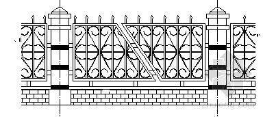 3种小区别墅围墙施工图