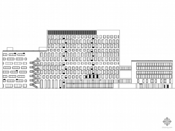 [深圳]某技术研究院科研办公楼建筑施工图(带配套节能设计及用表)