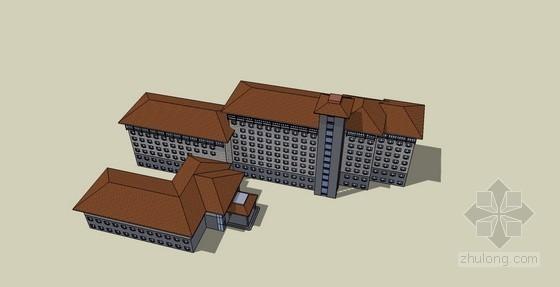 某九层中式休闲洗浴中心方案(含sketchup模型)