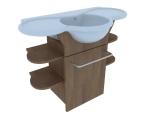 单体洗手盆柜3D模型下载