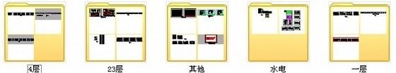 [福建]产权式时尚现代四层别墅样板房装修图资料图纸总缩略图