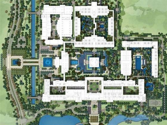 [海口]皇家园林风格高档酒店景观设计方案