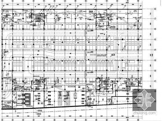 [湖北]全球首座室内电影乐园强电施工图纸(国内外顶级设计院审图意见)-基础接地平面图