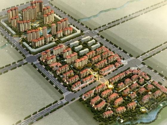 [山东]某欧式住宅区规划及单体设计方案文本