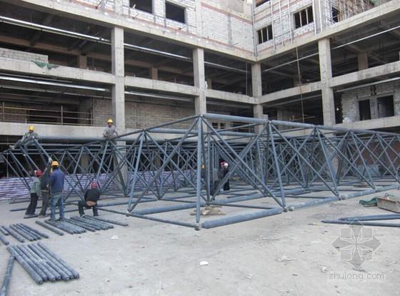 [内蒙古]框架结构医院工程钢结构网架工程施工方案(29页 附图)