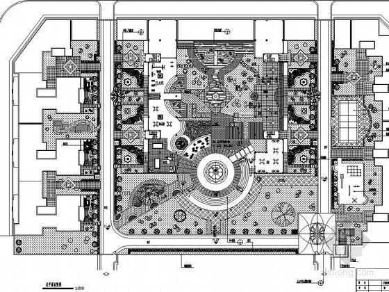 小区中心广场园林景观工程施工图