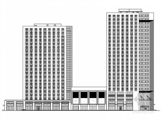 单体建筑酒店设计资料下载-[山东]25层现代风格酒店及单体办公楼建筑设计施工图