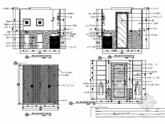 [无锡]别墅卫生间立面图