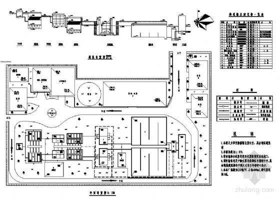 某净水厂平面及高程布置图(课程设计)