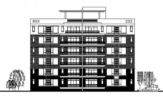 某六层塔式住宅建筑施工图(何镜堂作品)