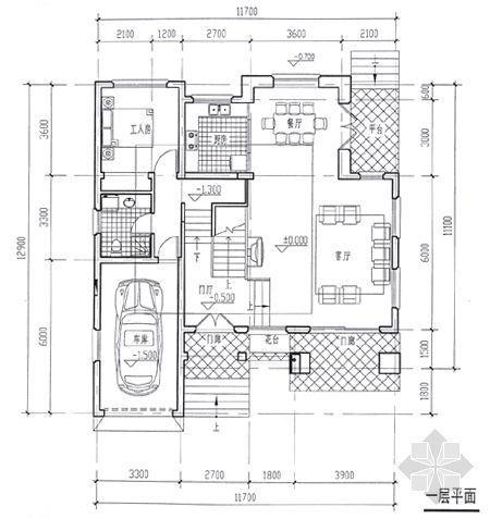 某别墅平面图及效果图3