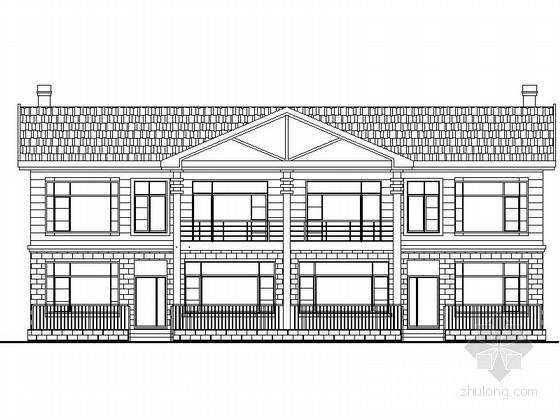 某二层中式双拼别墅建筑扩初图