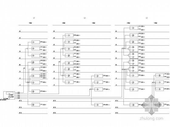 [上海]9层商业办公楼弱电智能系统图