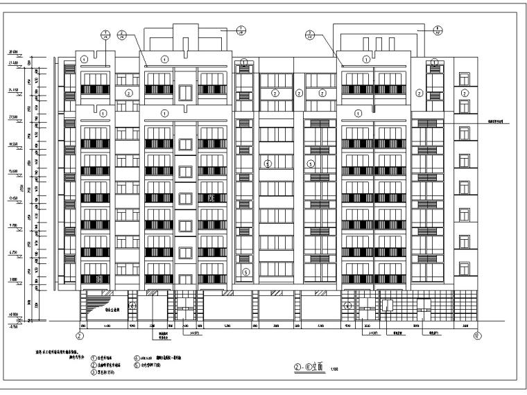 3套现代高层商住综合楼建筑设计方案施工图