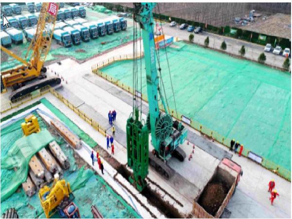 济南黄河隧道新进展!盾构始发井首幅地连墙顺利浇筑完毕!