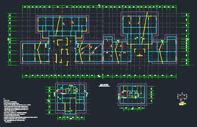 地上22层地下4层桩基础框架剪力墙住宅楼结构施工图_7