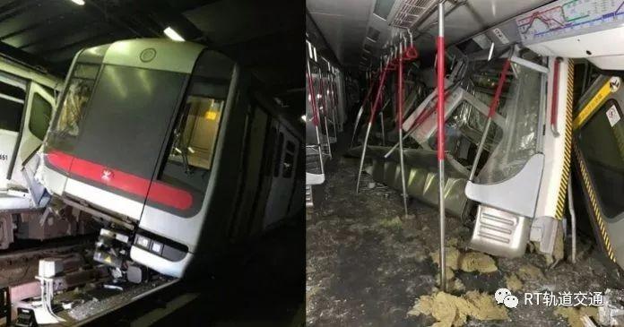 因测试信号系统相撞,港铁两列车损毁严重