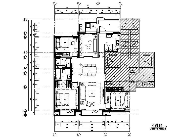 [北京]万科翡翠长安140户型样板间设计施工图(附效果图+物料)