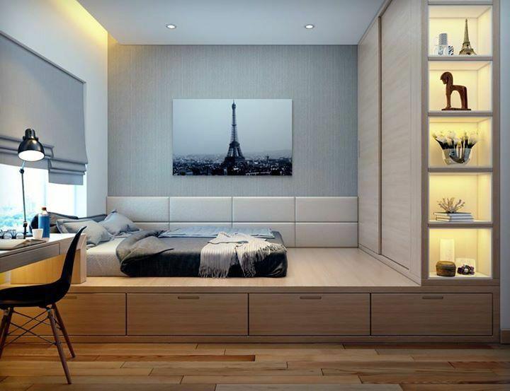 榻榻米床+柜子如何组合设计?35个案例告诉你..._16
