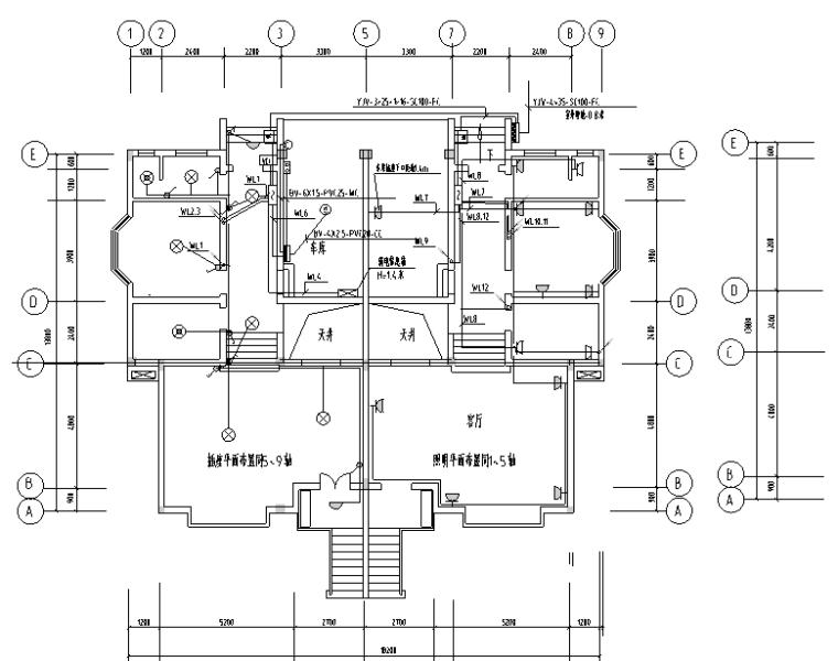 某别墅电气设计图纸