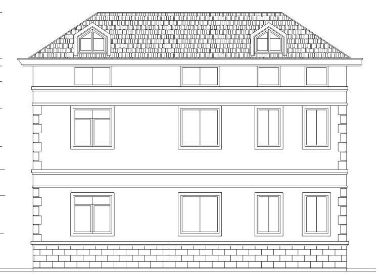 现代风格二层半独栋别墅建筑施工图设计
