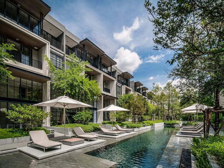 泰国封闭式公寓住宅景观