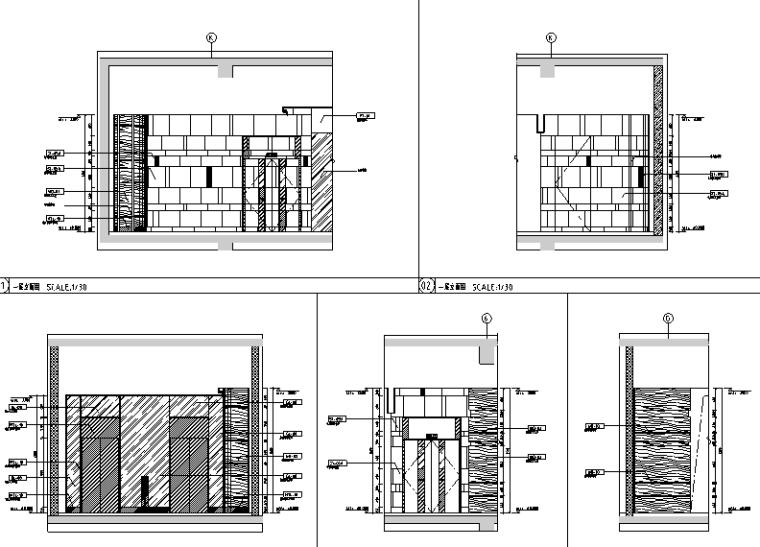三迪中心商场设计施工图(附效果图+标识设计方案+SU草图模型+深化设计方案+概念设计方案)-立面图