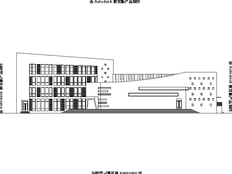 [海南]多层框架结构镇级文化中心建筑施工图