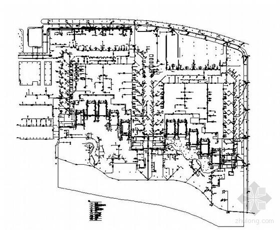 某景观排水管网平面图