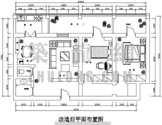 某宿舍装修平面图