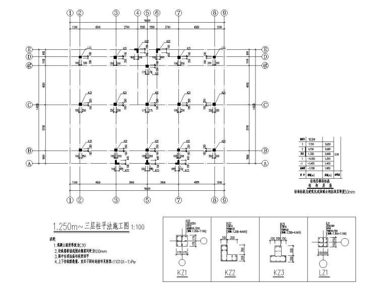 [江苏]三层框架结构别墅结构施工图