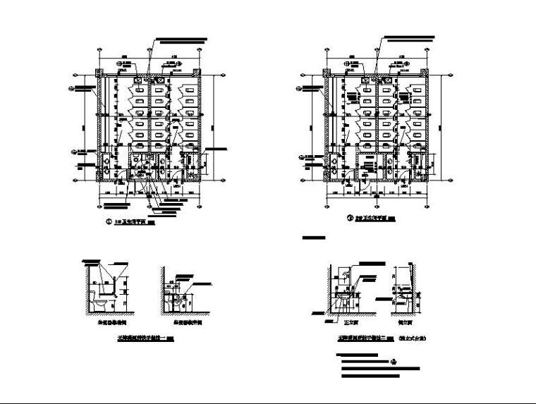 [浙江]五层长条形面砖外墙市级中学建筑施工图(含效果图)_11