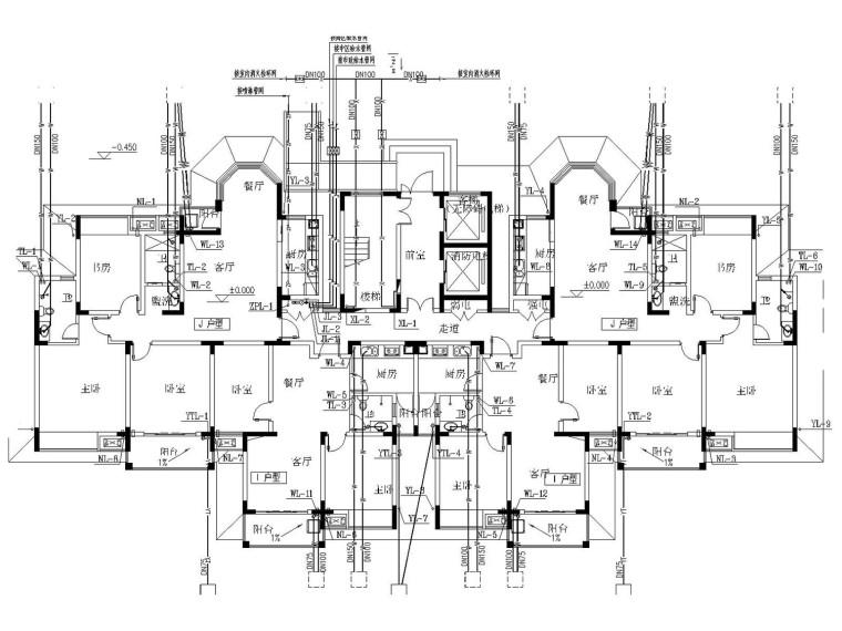 15层住宅楼给排水消防设计施工图(含计算说明书)